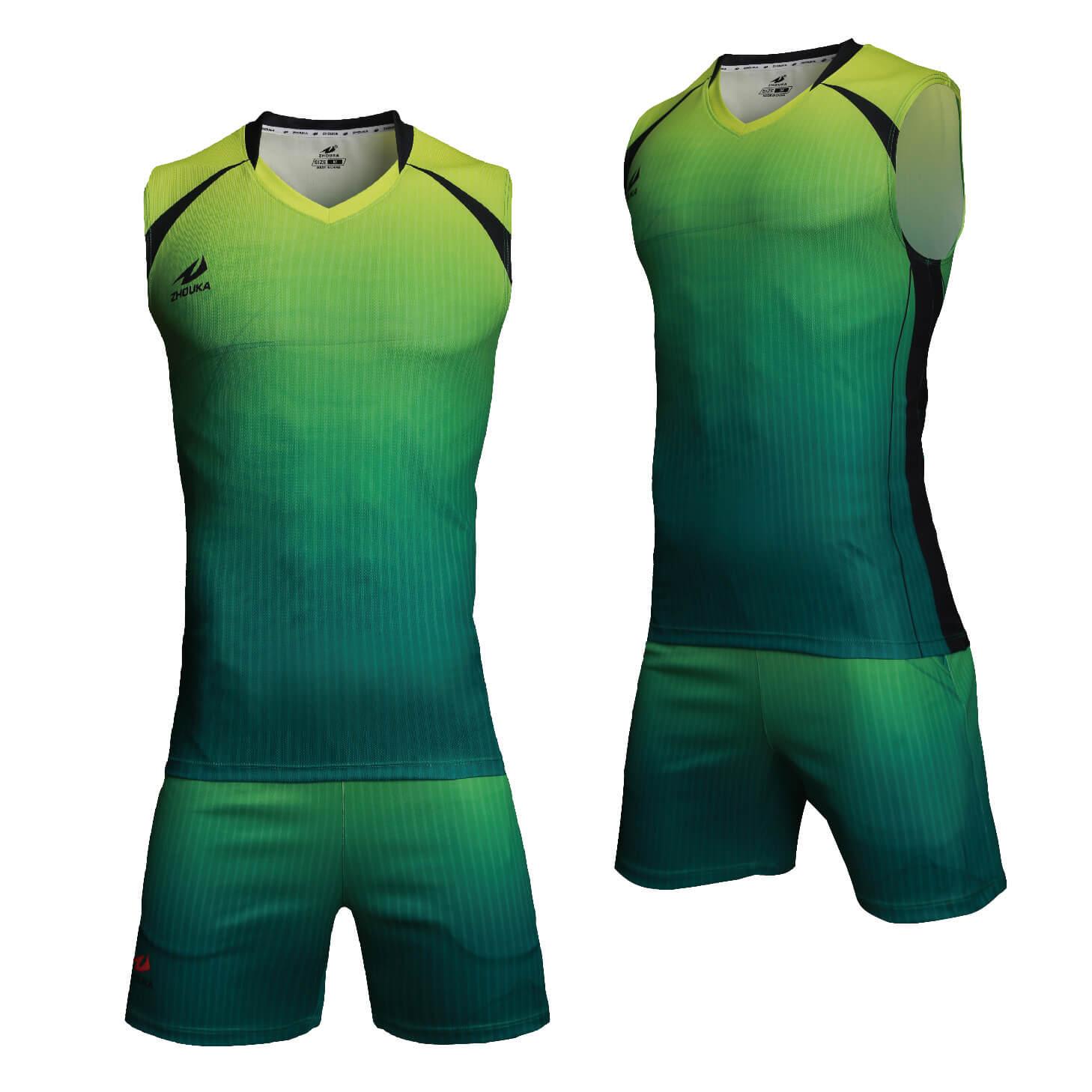 排球服定制服男式比赛服速干排球服训练服无袖