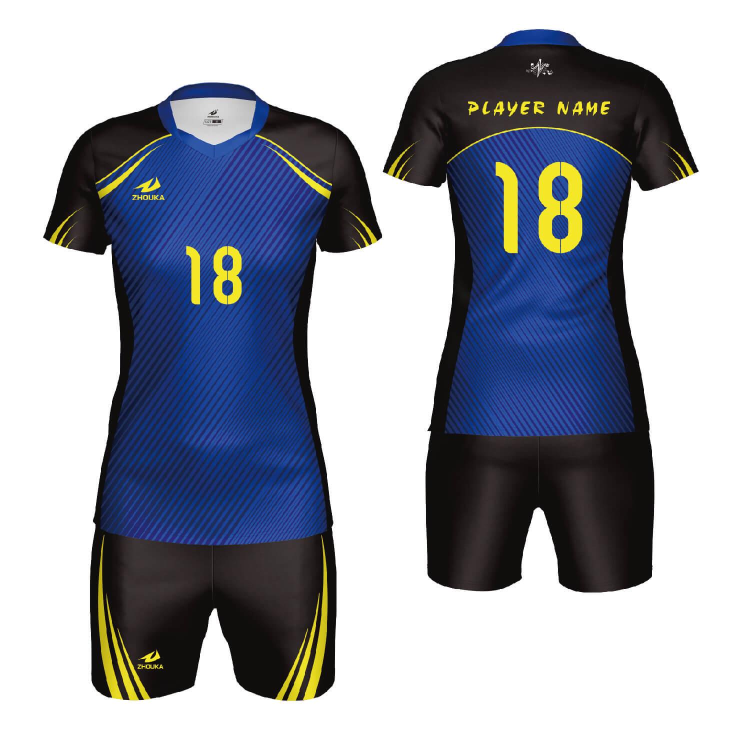 速干男运动队服热升华短袖排球服套装