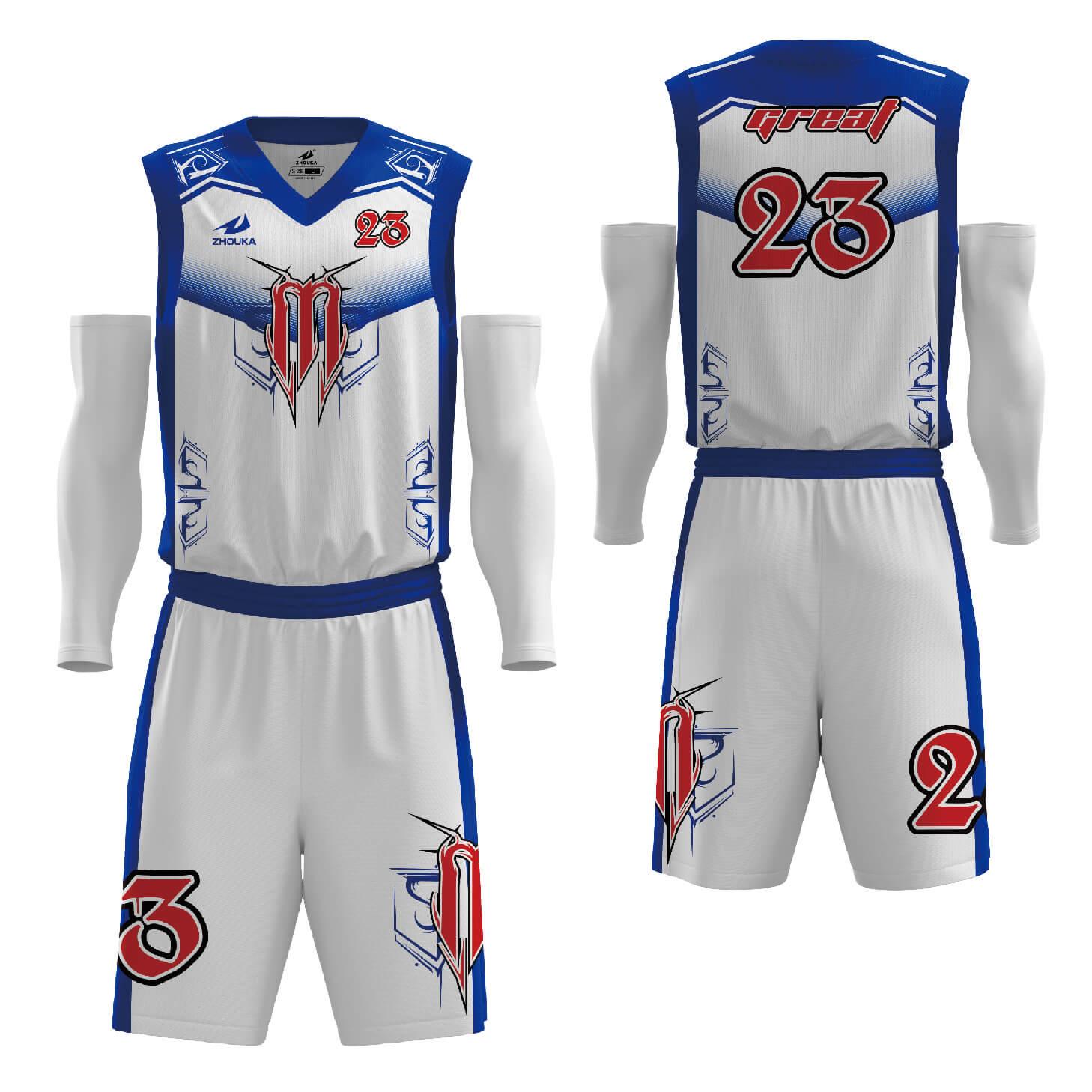 涤纶面料热升华技术新款篮球服套装比赛团队