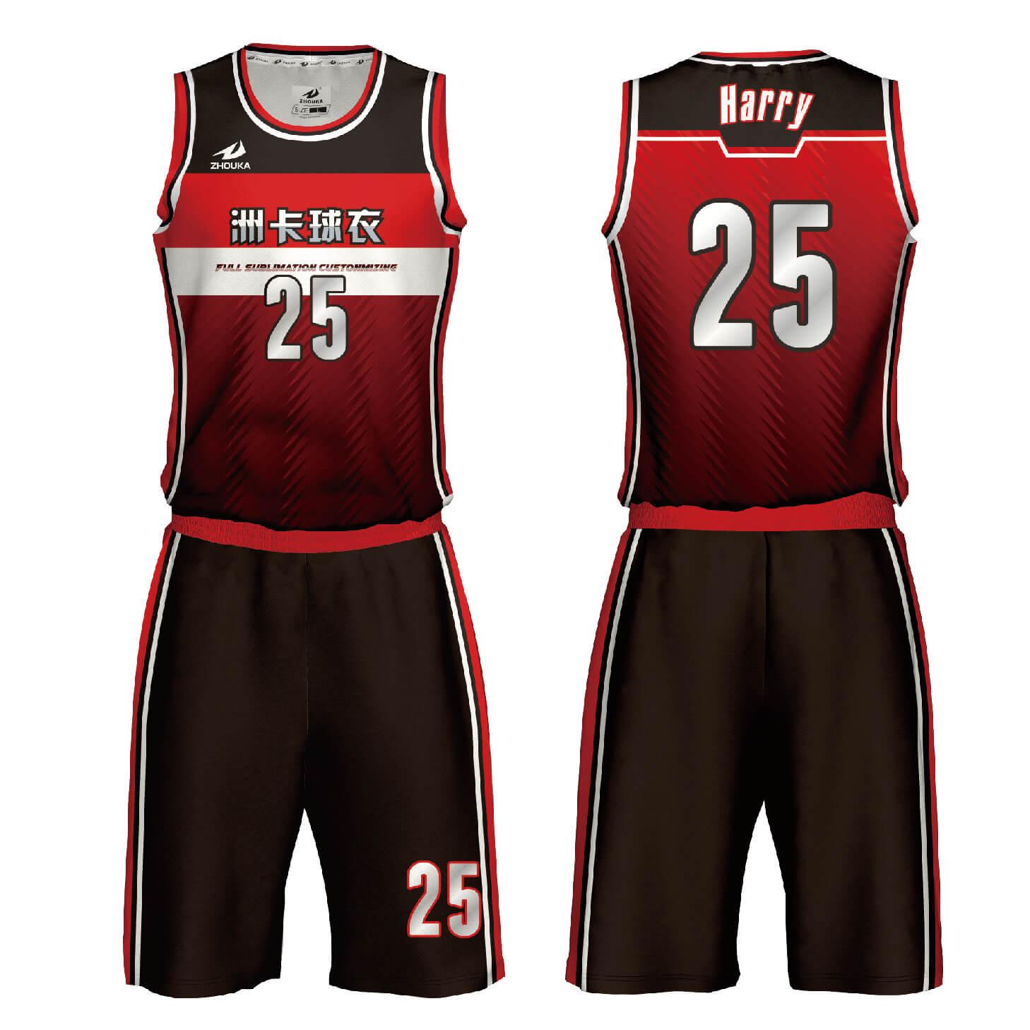 新的定制团队设计运动服篮球服球衣篮球衫