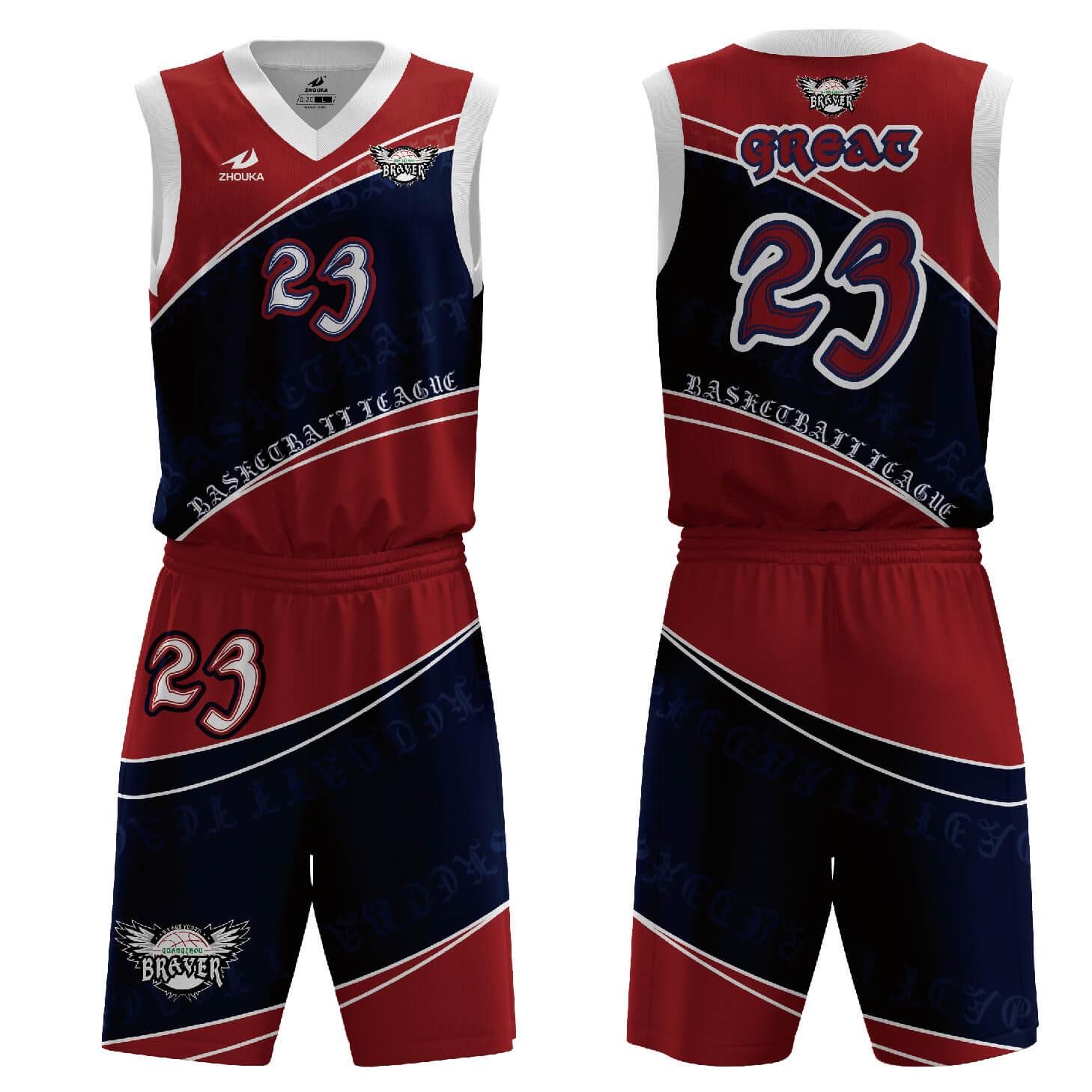 篮球球衣大学篮球服设计带有球队的名称和编号