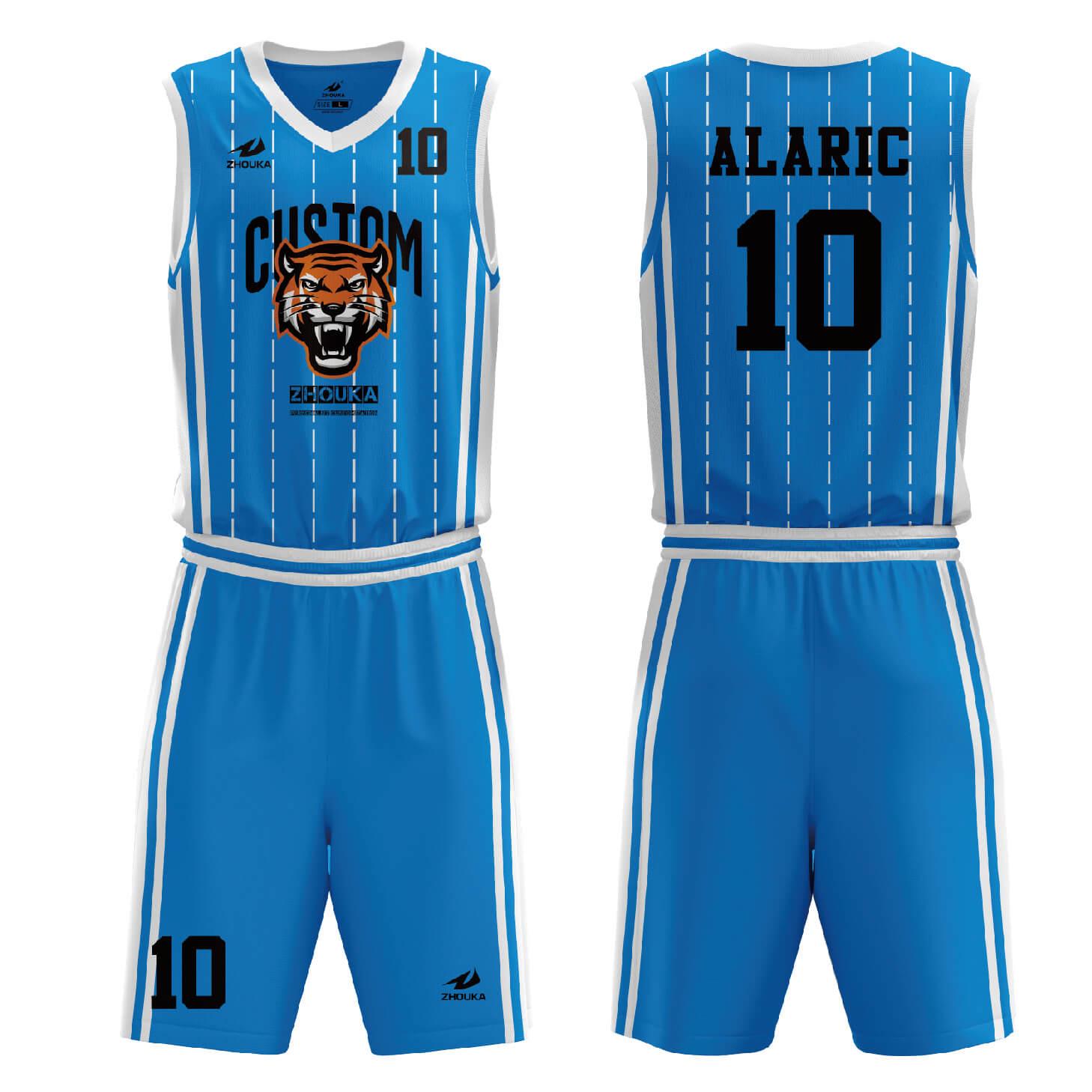 篮球服装最新款篮球球衣和短裤设计热升华篮球服