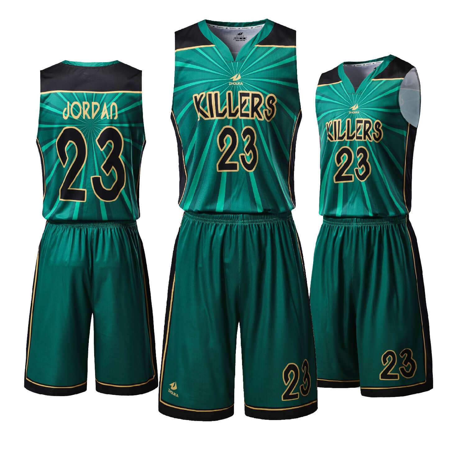 绿色款篮球服