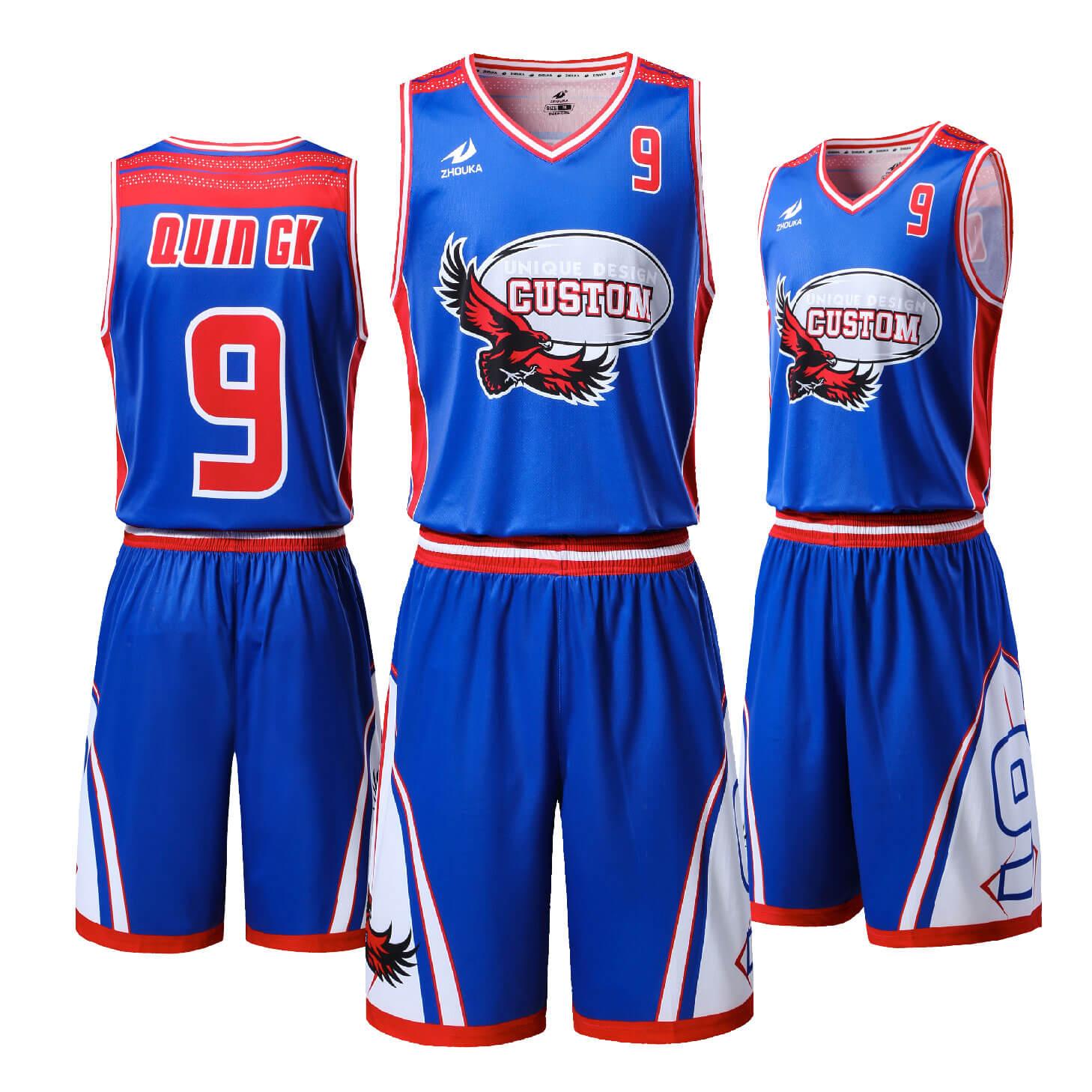 蓝色篮球服