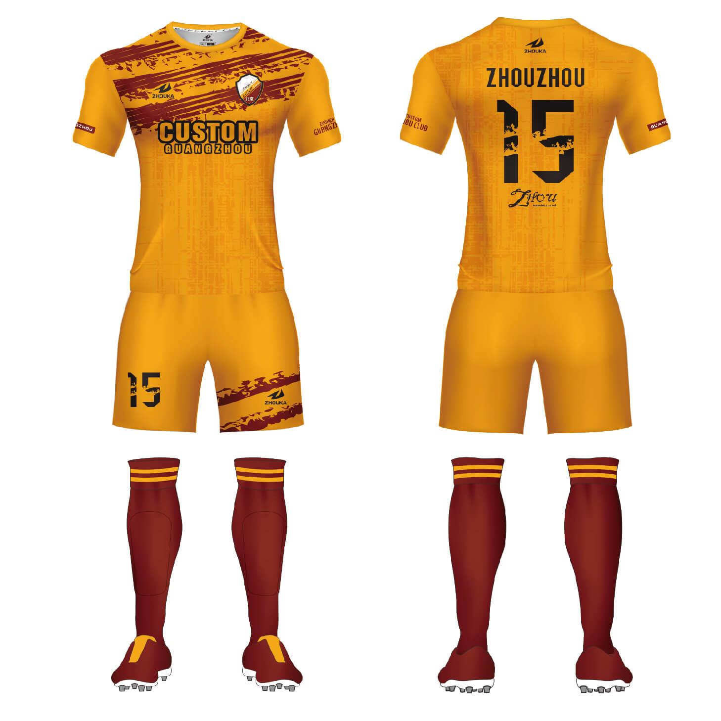 完全热身定制球衣足球服球衣运动服全身定制