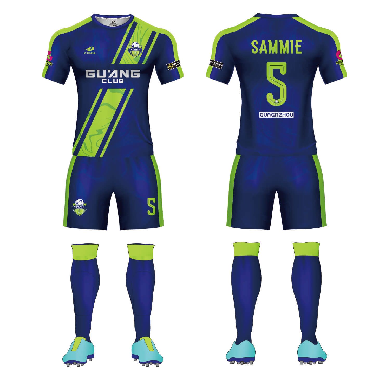 套装男式足球制服男孩球队俱乐部训练