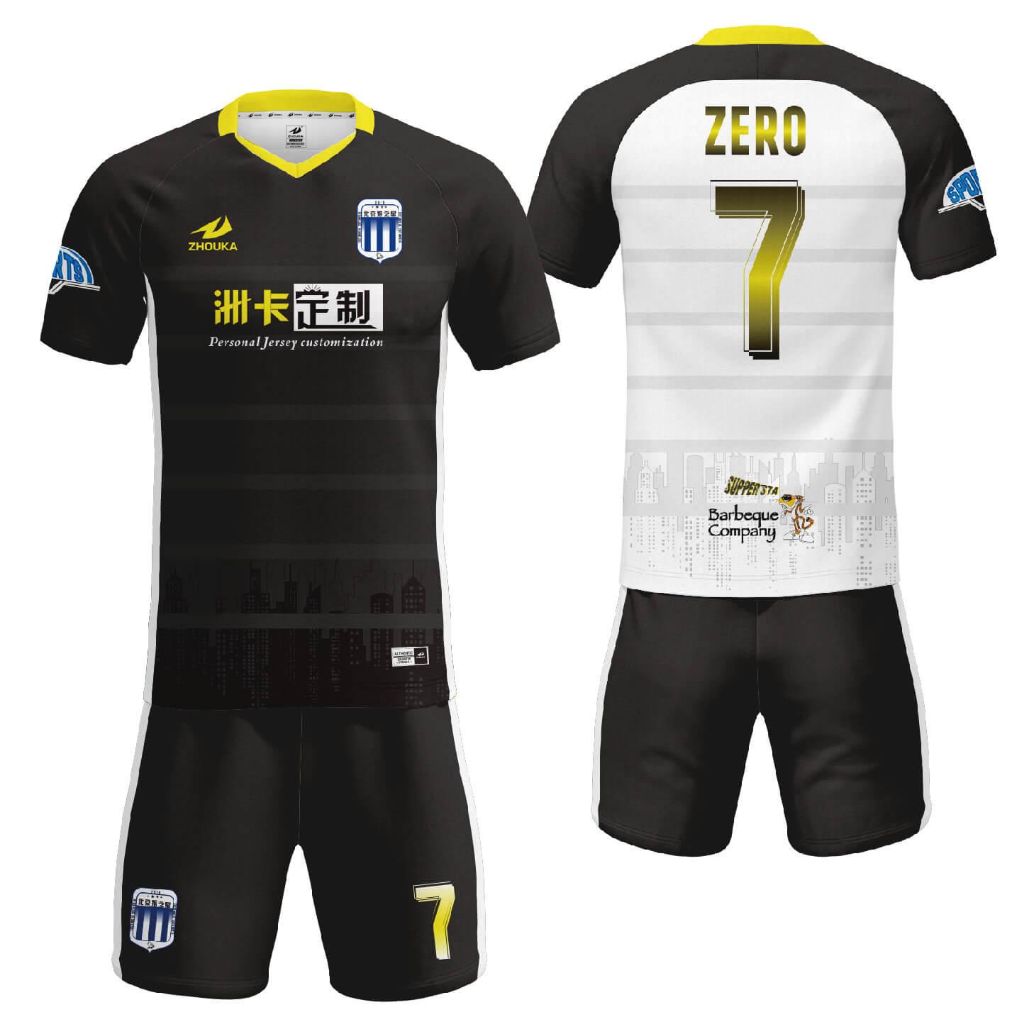 足球服套装个性印字logo俱乐部足球训练服热升华足球服定制