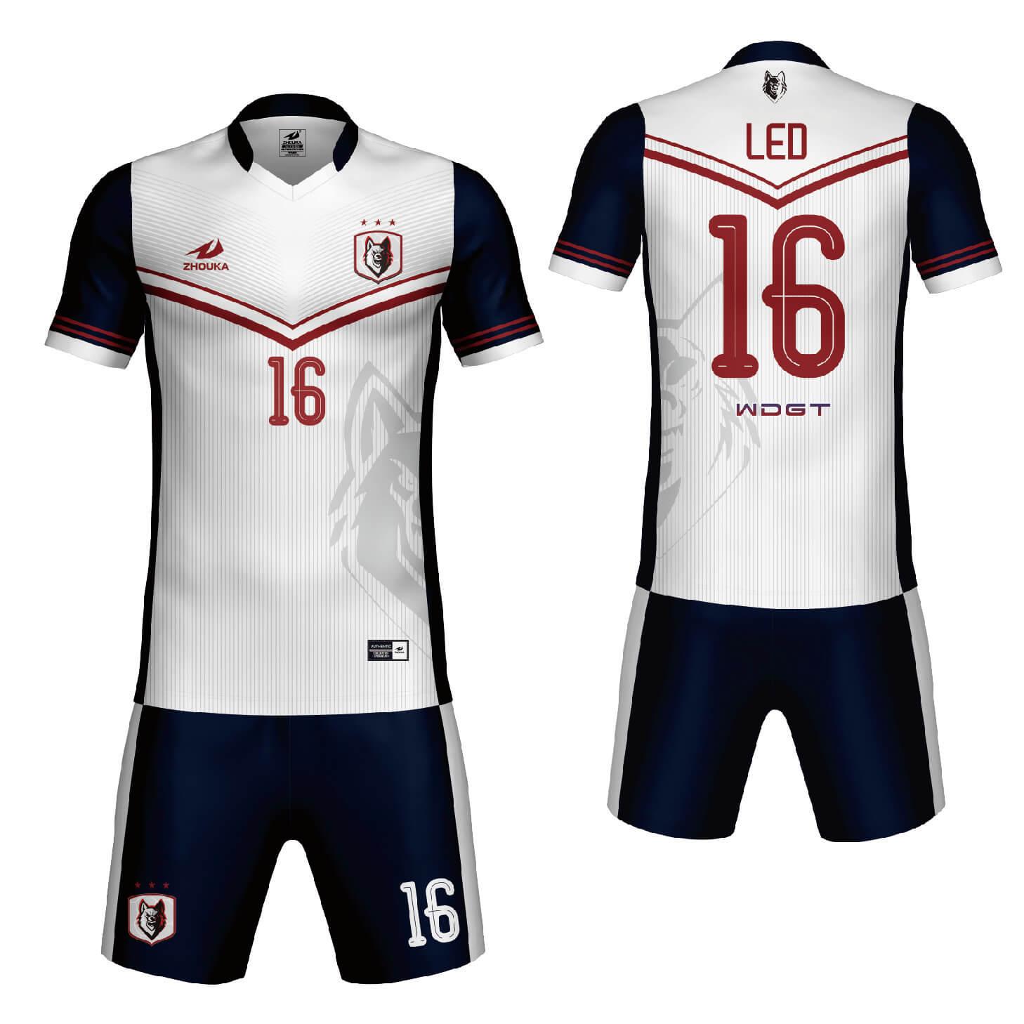 最新足球服定制全热升华设计足球服定制足球服