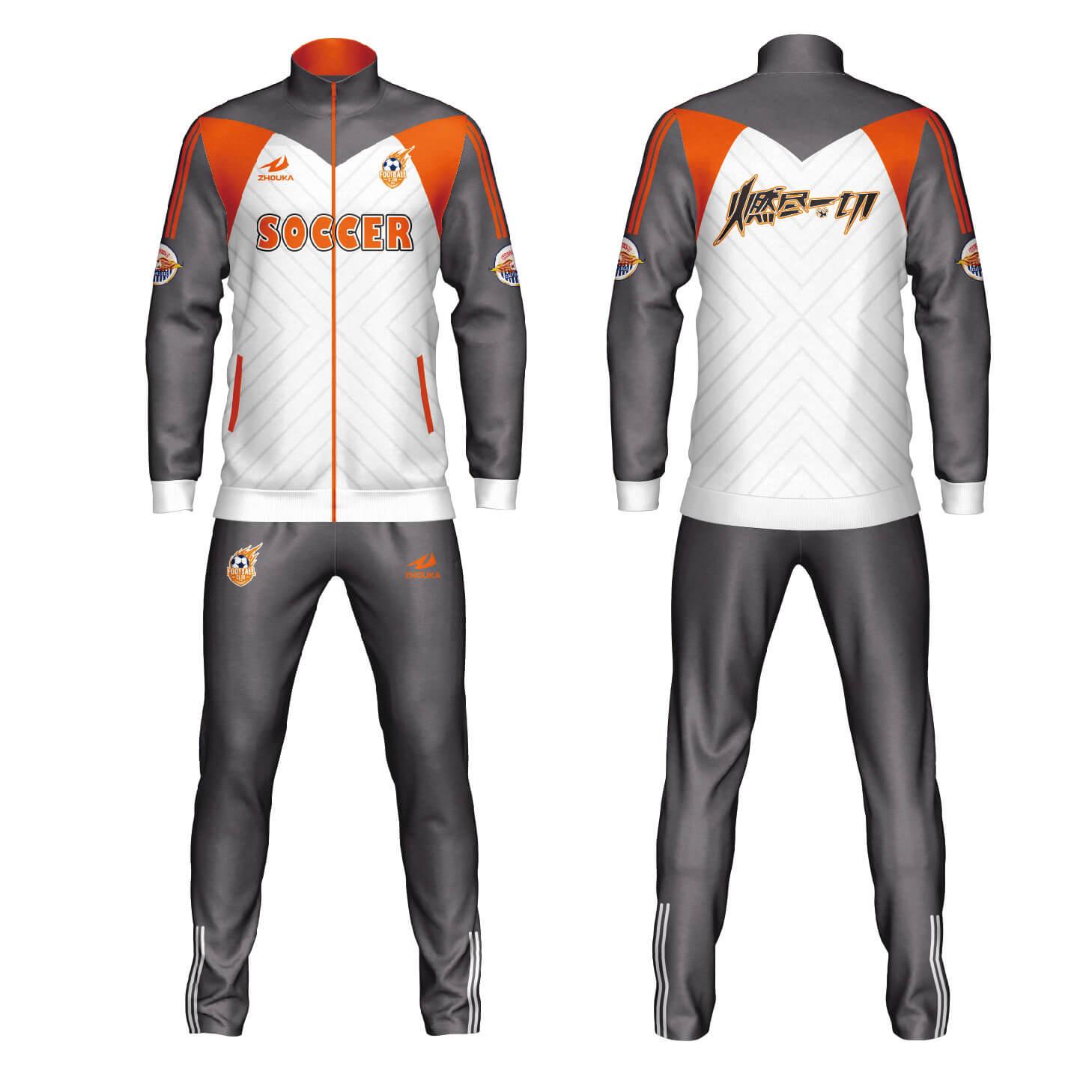 高品质的新设计定制全热升华设计团队热身运动服