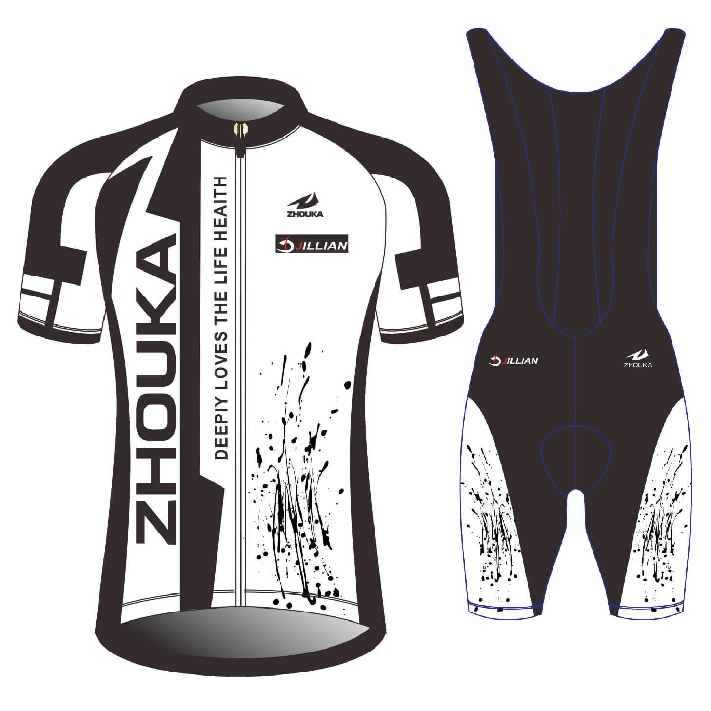 热升华散热透气孔技术骑行比赛服套装